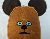 STAR WARS Movie Mr. Mouse ears Chewy appliqued on a unisex short sleeved t-shirt children and adult sizes