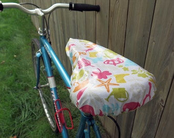 Waterproof saddle cover for biking - Garden and Sea
