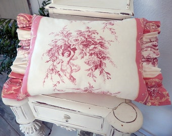 Beautiful fabric from Paris, France,Toile de Jouy Pillow for every decor