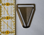 """Set of 10- 1"""" Triangle Back Nickel Plated- FOR SUSPENDERS"""