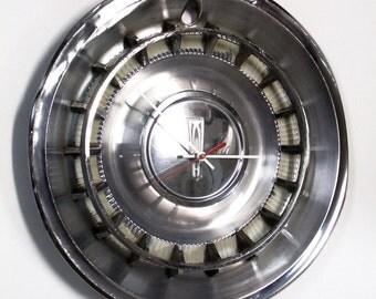1961 Oldsmobile 88 98 Hubcap Wall Clock - Olds Retro Hub Cap Car Clock