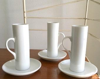Vintage Legardo Tackett 3 Espresso Cups Schmid Porcelain Modern