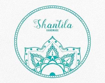 Mandala Logo Yoga Logo Tribal Logo Boho Logo Ethnic Logo Bohemian Logo Native Logo Watermark Circle Henna Doula Custom Logo Boutique #PL18