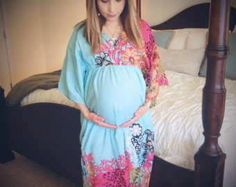 View Maternity Caftans/Gowns by silkandmore on Etsy