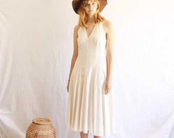 vintage natural cotton halter dress