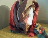wonderful wool  rich colors  VERA  designer  vintage scarf