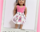 "18"" Doll Clothes, AG doll clothes- Pink Tank top and skirt fits 18"" dolls like American Girl, Maplelea"