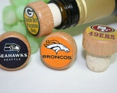 NFL Football Wine Stoppers, 165 Designs to choose from, Football gift, Sports Teams, Sports Wine Stoppers, Sports Gift