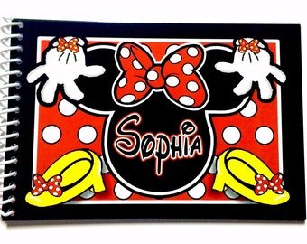 Personalized Disney Autograph Books -  Minnie Mouse Book  - keepsake - Disney Albums - Custom Book-  New