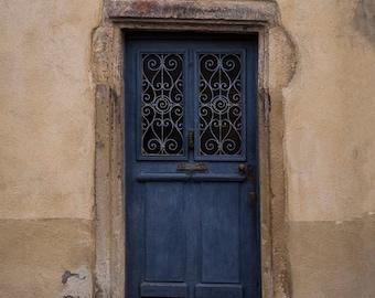 Paris Door Photo France Print Paris Decor Blue Beige Apartment Photograph Home Decor neutral colors par133