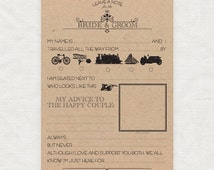 leave a note for the bride and groom - printable template - funny victorian themed mad lib guest book cards words of wisdom marriage advice