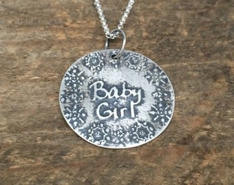 Custom Sterling Silver Handwriting Necklace