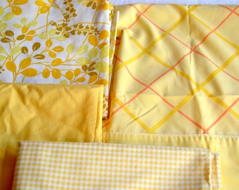 Vintage Pillowcases - Yellow - Mix and Match Cotton Lot of 4