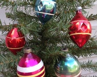 Vintage Teardrop Christmas Tree Ornaments (0-155)