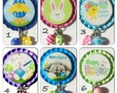 TOP Only**Easter Bunnies and Chicks Interchangeable Badge Reel Tops  *PICK ONE*