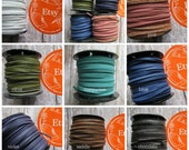 3 mm Deertan Lace, Deer Tan Lace, Leather Lace, 3mm Leather, 3mm Deertan Lace, Flat Leather Lace, 3mm Leather Lace, Turquoise Leather