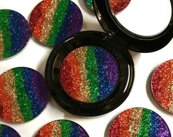Pressed Glitter Metallic Rainbow LE-Ready To Ship