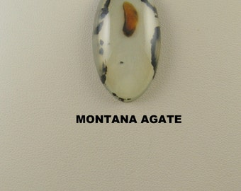 Large Montana Agate Oval Designer Cabochon for Jewelry Artisans.