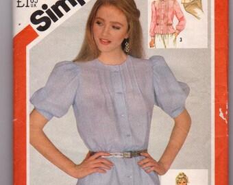 Simplicity 5533, 1982 Sewing Pattern, Uncut Size 12 ladies blouse