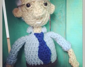 Crocheted Bernie Sanders Doll