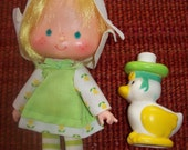 "5 1/2"" Lemon Meringue Doll With Pet Duck Strawberry Shortcake Dolls"