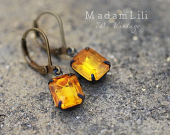 Crystal Drops  - True Vintage Earrings