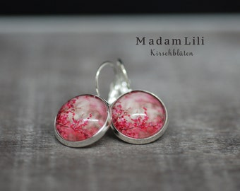 Cherry Blossoms II Silver Earrings