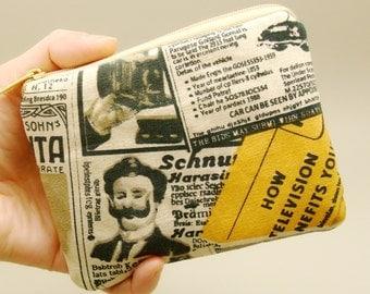 RS Newspaper (a) - Zipper pouch / coin purse (padded) (ZS-146)