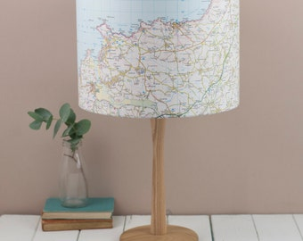 Personalised Map Lampshade, choose your location, bespoke service
