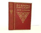 Hollow Book Safe Burning Daylight Jack London Cloth Bound vintage Secret Compartment Security hiding place