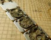 Segmented Bracelet, Watch Parts on Aluminum