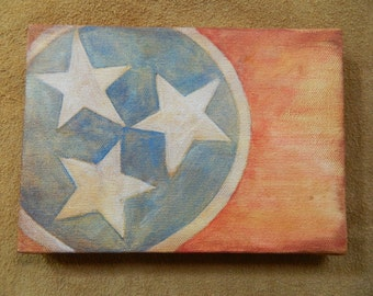 My Home Town - TN Flag Painting