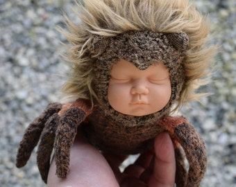 Spider Baby, spider and baby altered stuffed mutant animal