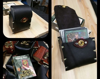 American Made Leather Deck Box- ( Magic the Gathering, Yu-Gi-Oh, Pokemon, trading card )