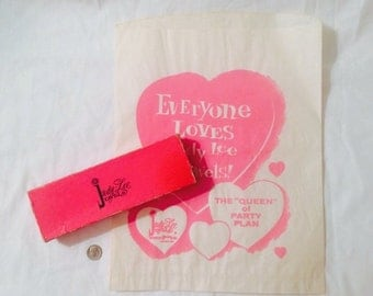 Judy Lee Jewels Gift Paper Bag and Hot Pink Bracelet Necklace Box - Vintage early 1960s