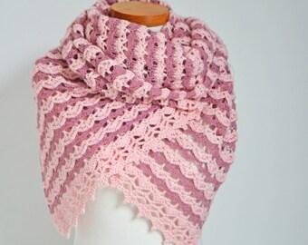 QUARTZ, Crochet shawl pattern pdf