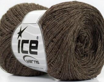 Knitting  yarn, Destash yarn, Brown, light fingering, lace weight, Y221
