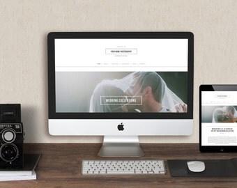 sale squarespace template photography website design