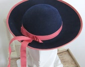 Adorable Vintage Child's Hat With Ribbon