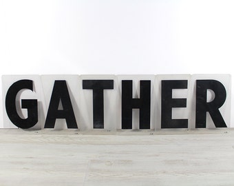 GATHER - Vintage Acrylic Marquee - 8 Inch Clear Plastic Letters