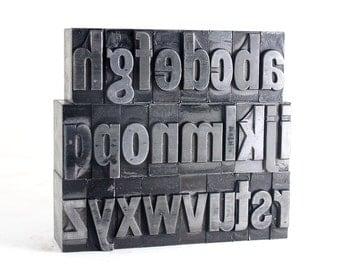 THE ALPHABET - 72pt Metal Letterpress - Franklin Gothic Condensed
