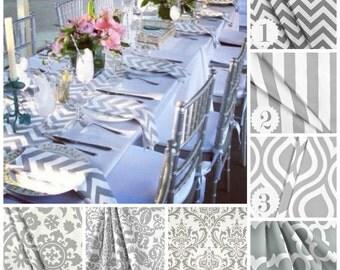 Gray Napkins Wedding Table Centerpiece Grey Linens Decor Cloth Fabric Quatrefoil Chevron Stripe Floral Napkins Dinner Party