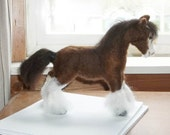 Needle Felted Clydesdale Horse