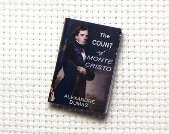 Needle Minder Needle Buddy Count of Monte Cristo Alexandre Dumas Miniature Book 1 Inch