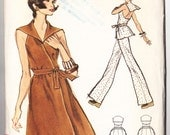 Vintage 1973 Vogue 8597 Sewing Pattern Misses' Dress, Tunic and Pants Size 12 Bust 34