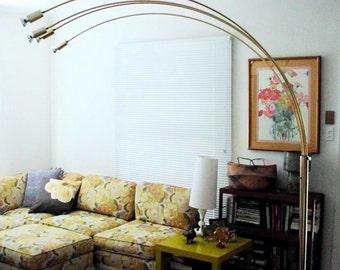 vintage arc floor lamp mid century modern brass arch lamp nova of