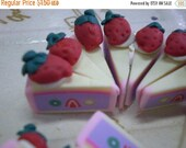 50% OFF - 10 pcs Polymer Clay Cake Cabochons