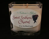 Sweet Southern Charm - Cube Soy Blend Candle -  Square Jar Candle -  Novelty Cube Candle