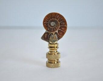 Lamp Finials - Ammonite Pair