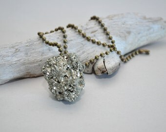 Pyrite Crystal - Ready to Ship - Single Ceiling Fan Pull or Light Pull